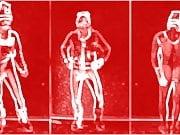 0811 Animated Tussi Selfie Santa Claus Animist Stripes naked